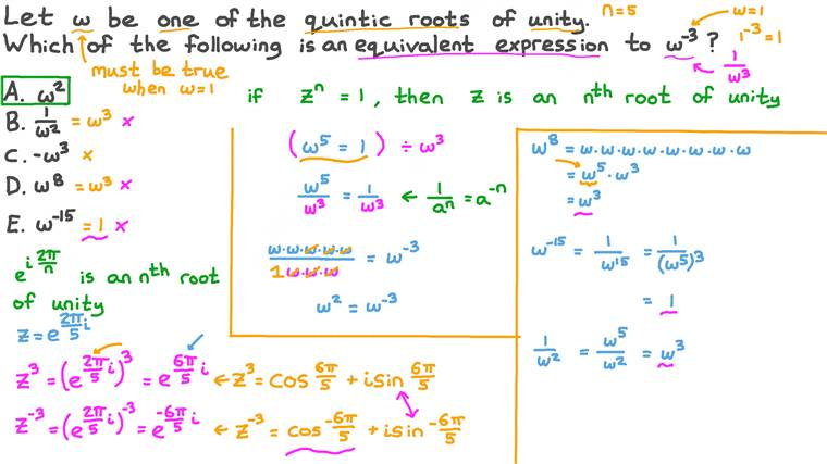 Equivalent Expressions for the Quintic Roots of Unity