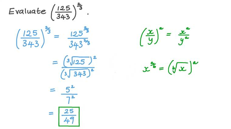 Evaluating an Expression with a Rational Base and a Positive Rational Exponent