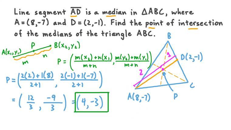 Les propriétés des médianes d'un triangle