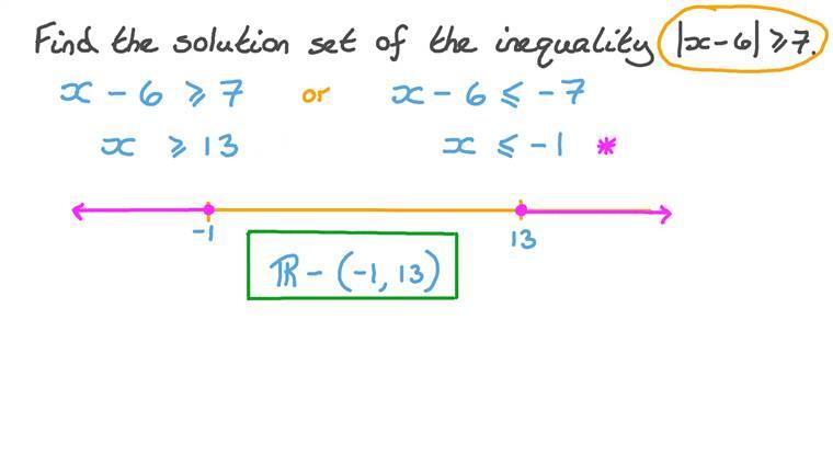 Résoudre une inéquation contenant une valeur absolue