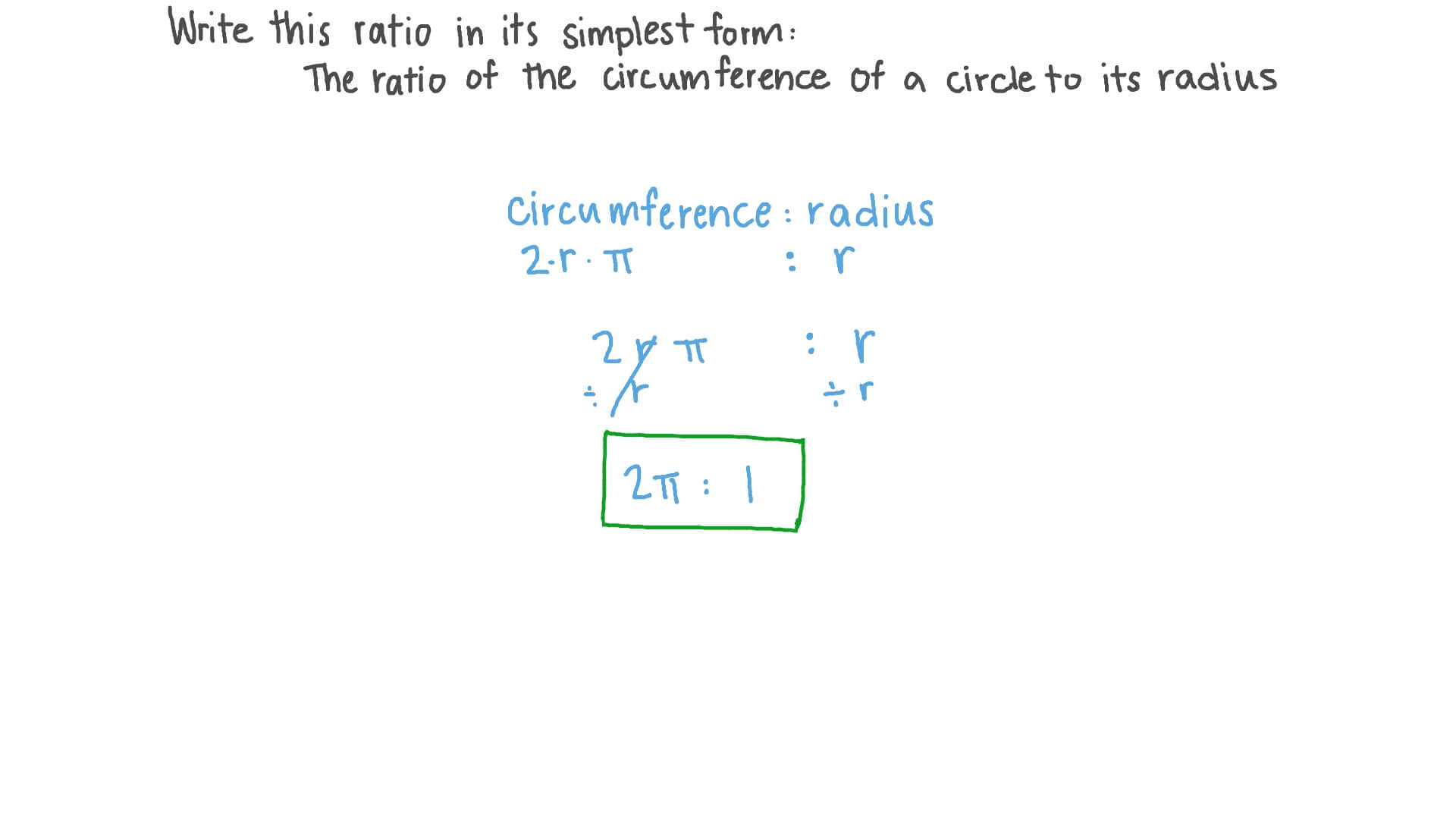 simplest form in ratio  The Ratio of the Circumference of a Circle to Its Radius