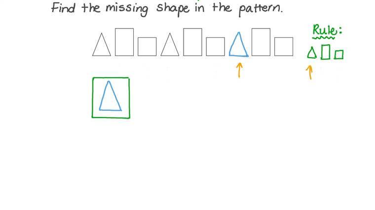 Hallar patrones que contienen formas