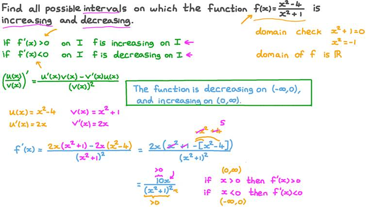 Finding Intervals Where a Rational Function Increases and Decreases