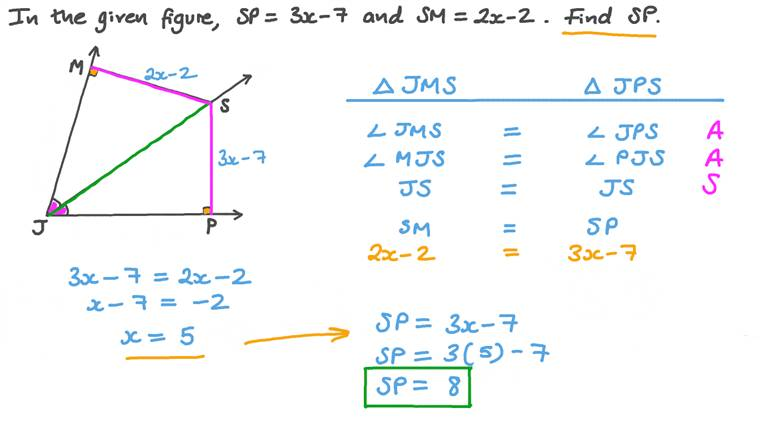 Finding the Length of a Side in a Triangle given the Corresponding Side's Length in a Congruent Triangle
