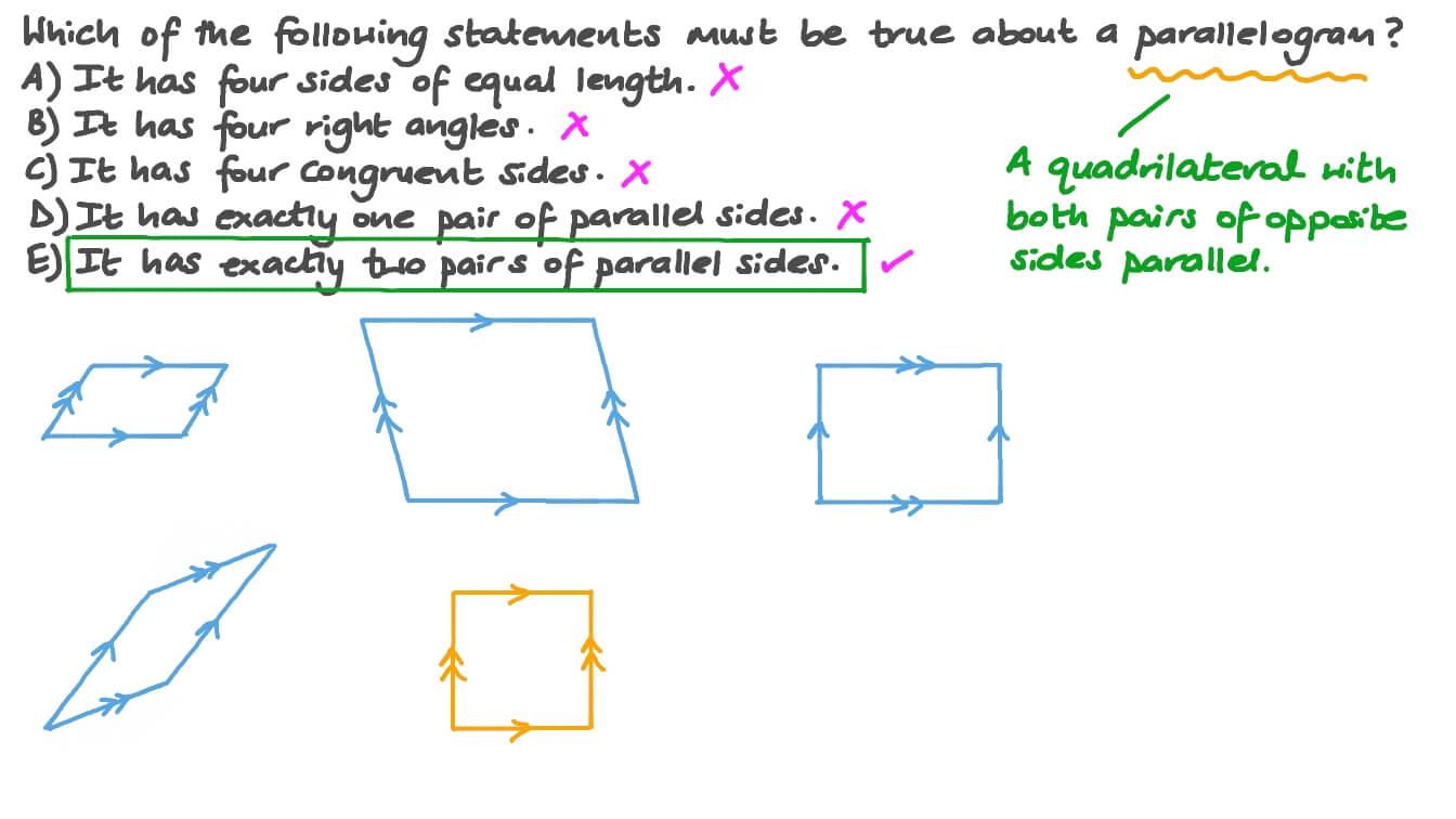Properties of Parallelograms Inside Properties Of Parallelograms Worksheet