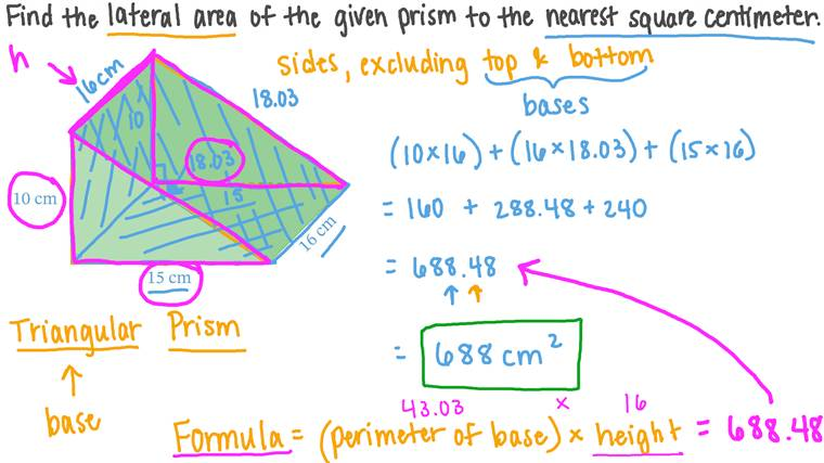Finding the Lateral Surface Area of a Triangular Prism