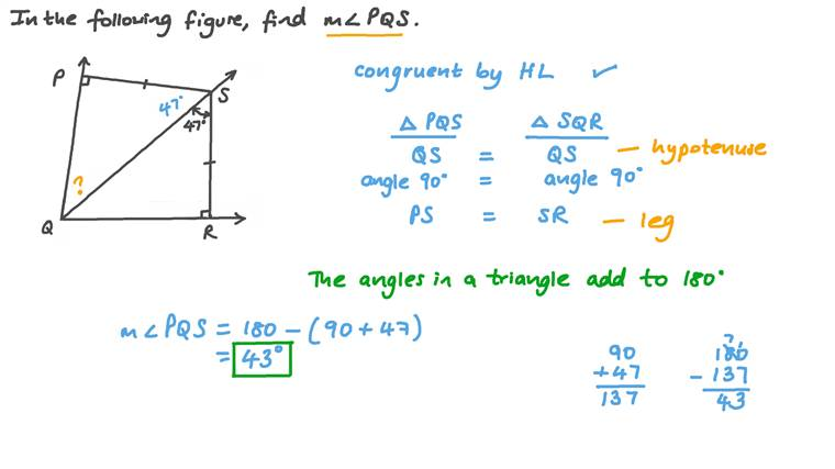 Finding the Measure of an Angle in a Triangle given the Corresponding Angle's Measure in a Congruent Triangle