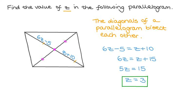 Using the Properties of Parallel Lines and Solving Linear Equations to Determine the Value of an Unknown