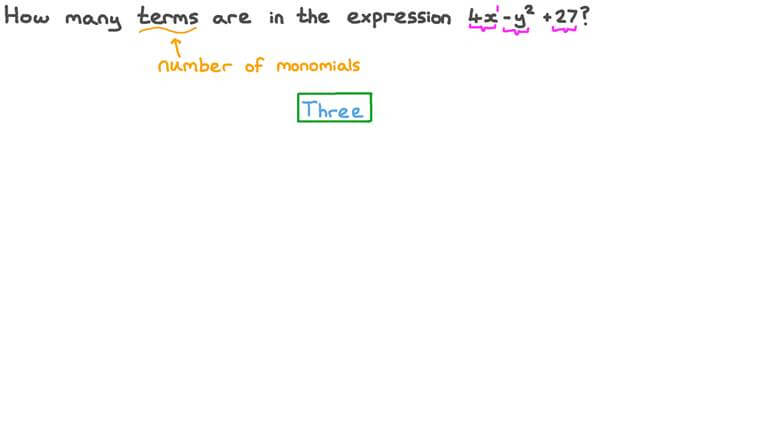 Determining the Number of Terms an Algebraic Expression Consists of