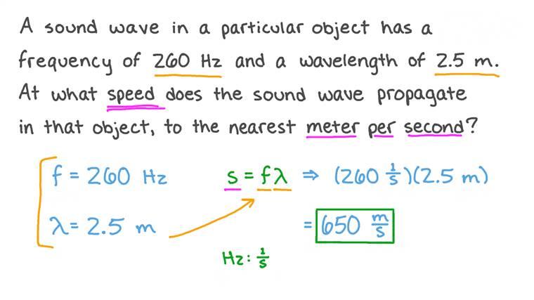 Calcul de la vitesse des ondes
