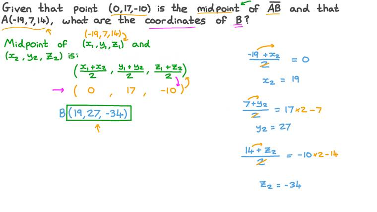 Finding the Coordinates of a Point on a Line Segment given the Coordinates of the Midpoint and the Coordinates of a Second Point