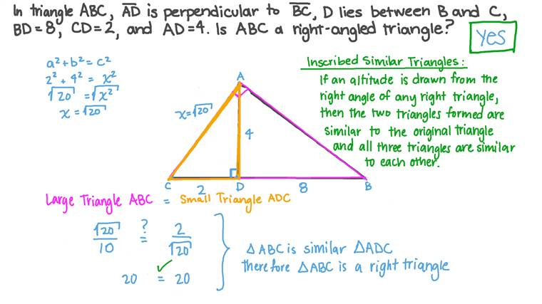 Checking Whether the given Triangle Is Right-Angled or Not