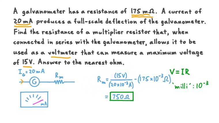 Valeur requise de résistance d'un multiplicateur pour une plage de tension maximale spécifique