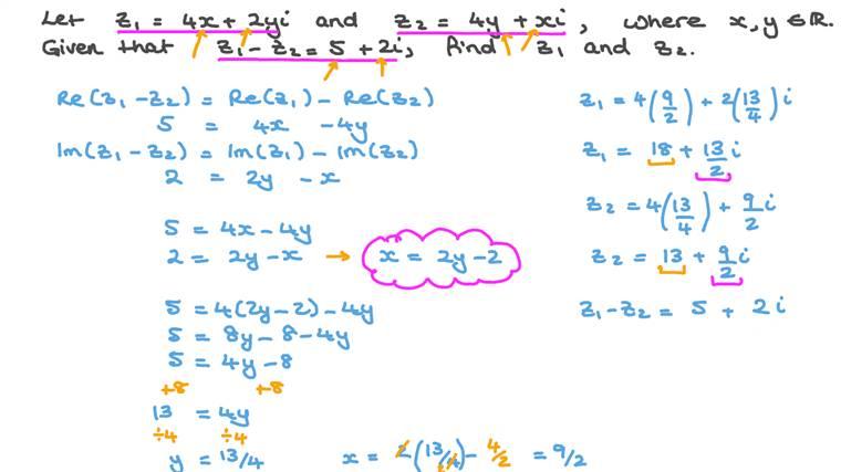 Solving Equations Involving Complex Numbers