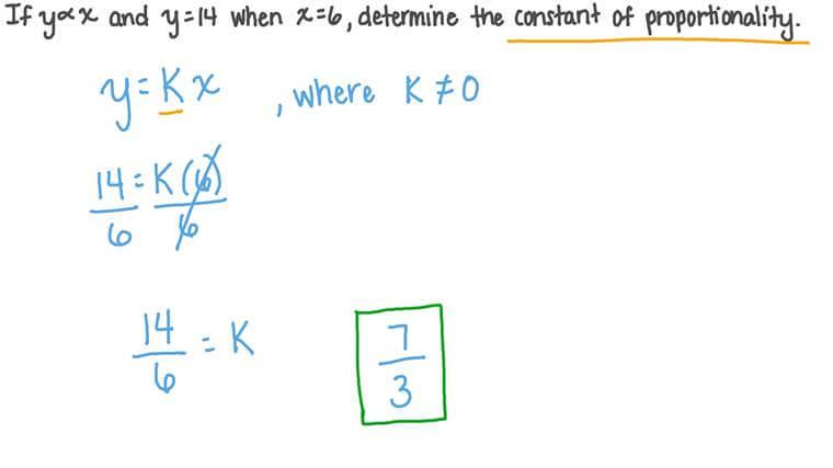 Déterminer le coefficient de proportionnalité