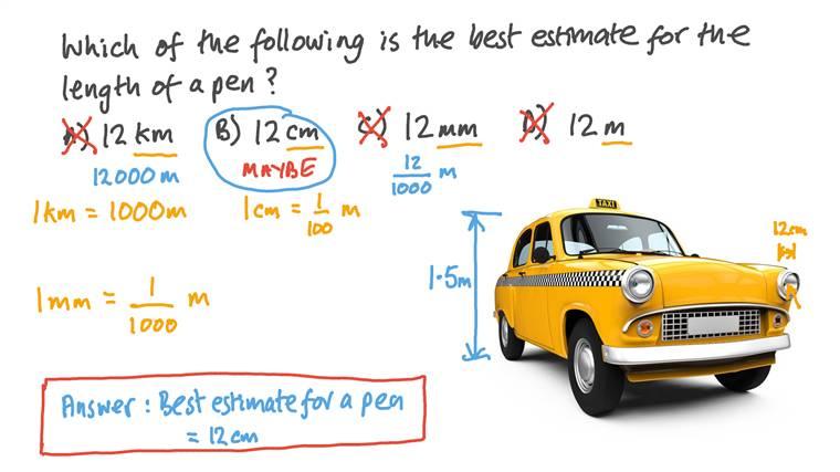 Estimer la longueur convenable d'un objet