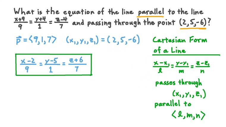 Finding the Equation of a Line given the Equation of a Parallel Line and a Point
