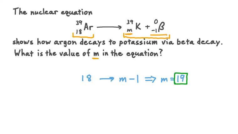 Solving Nuclear Equations Involving Beta Decay