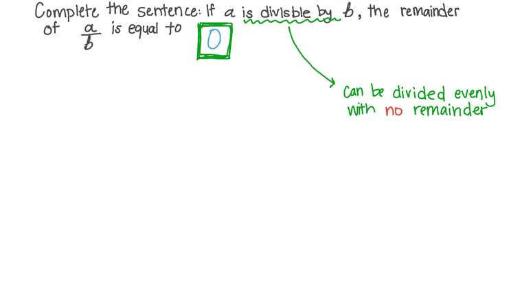 Divisibility and Remainders