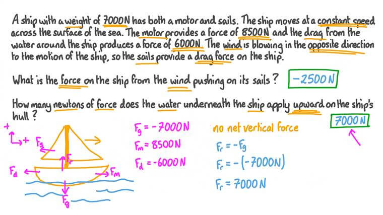 Using Newton's First Law to Calculate Forces