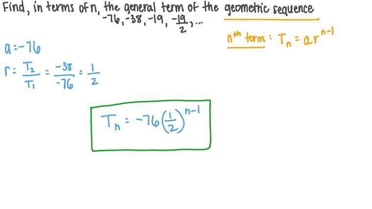 Déterminer le terme général d'une suite géométrique donnée