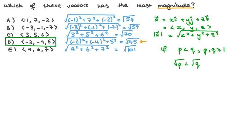 Calculating the Magnitude of 3D Vectors