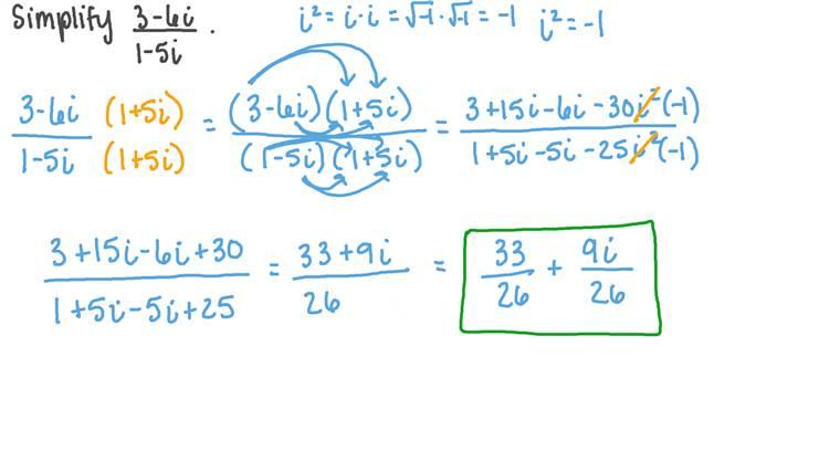 Diviser des nombres complexes