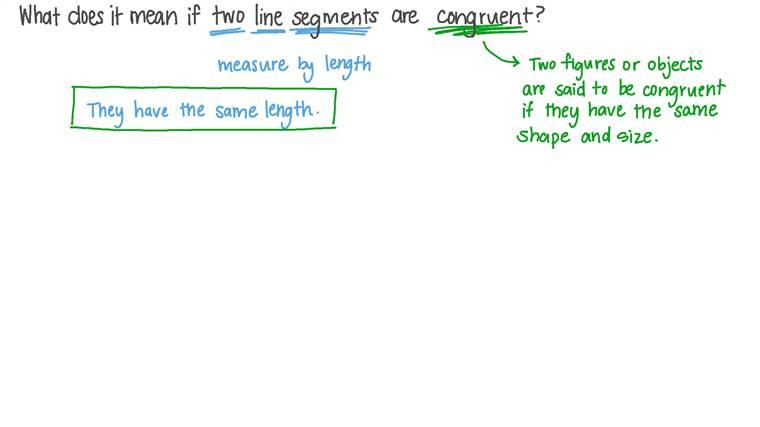 Congruency of Line Segments