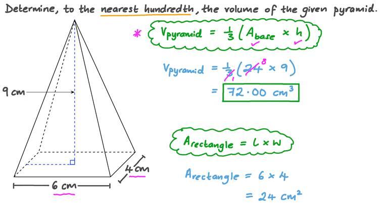 Calculer le volume des pyramides