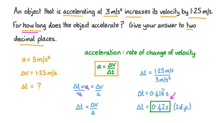Rate of Velocity Change