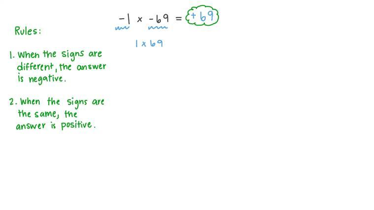 Multiplying Signed Integers