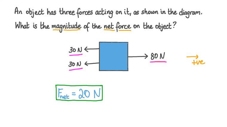 Calculating the Net Force Acting on an Object