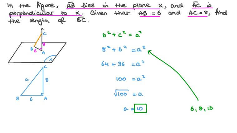 Using the Pythagorean Theorem to Find an Unknown Side Length