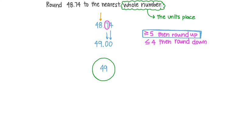 Rounding a Decimal Number to the Nearest Whole