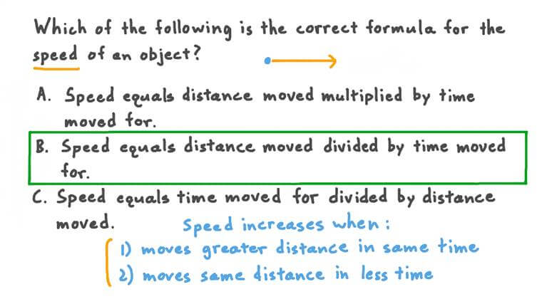 Determining the Formula for Speed
