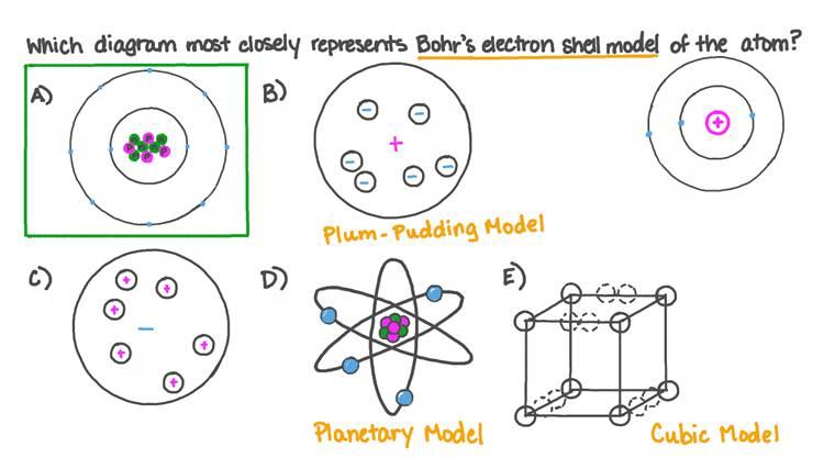 Identifier la représentation la plus précise du modèle de Bohr de l'atome