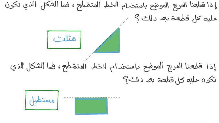 تكوين أشكال ثنائية الأبعاد من المربعات