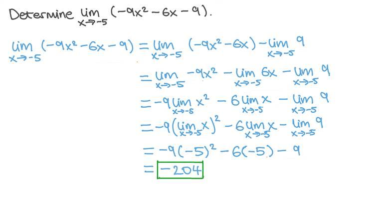 Déterminer la limite d'une fonction polynomiale