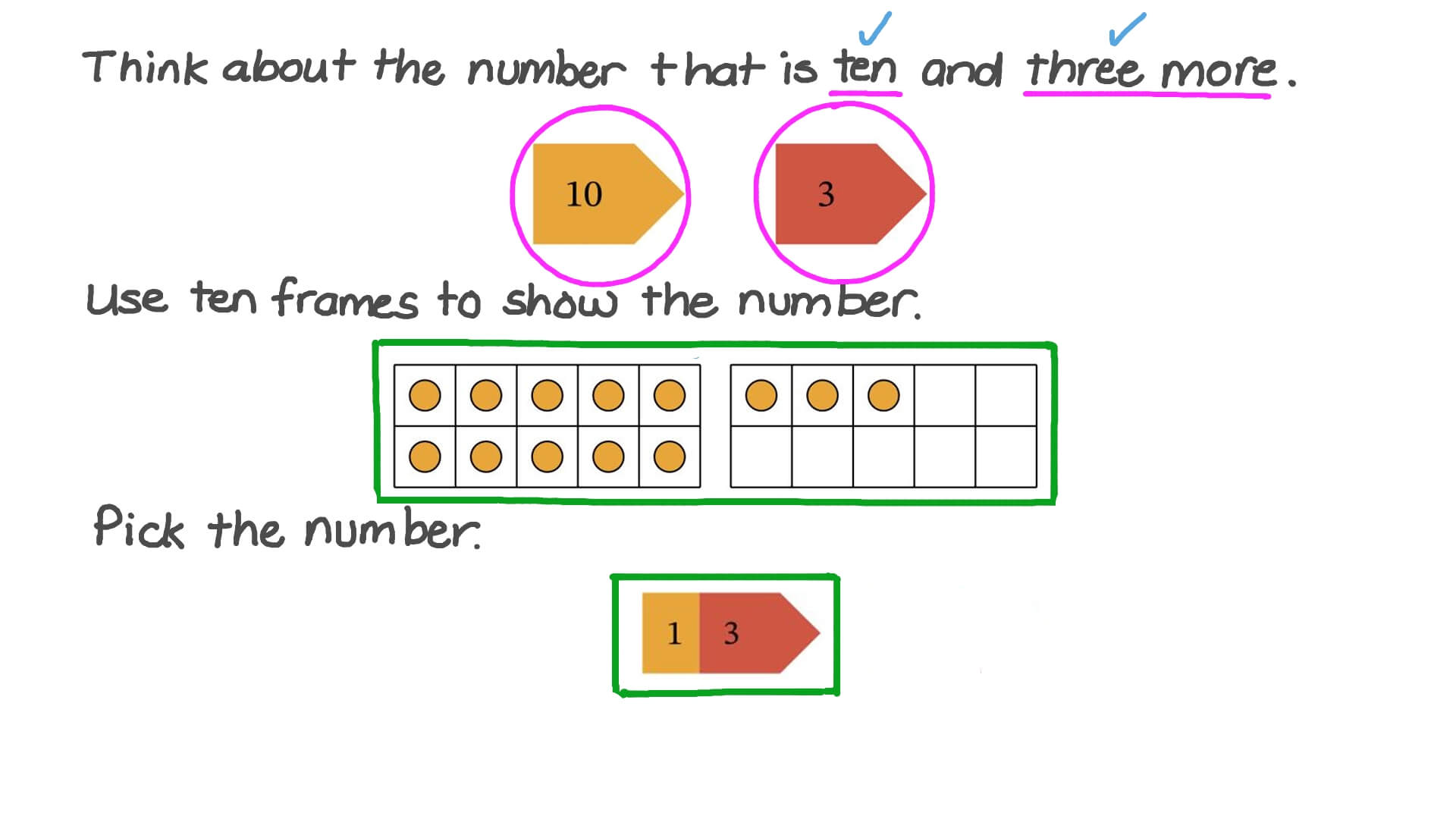 Question Video: Model Teen Numbers with Place Value Cards