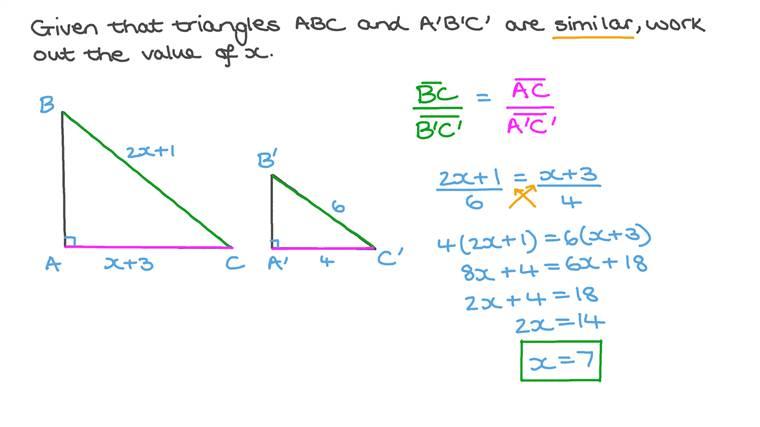 Utiliser les propriétés des triangles semblables pour résoudre des problèmes algébriques