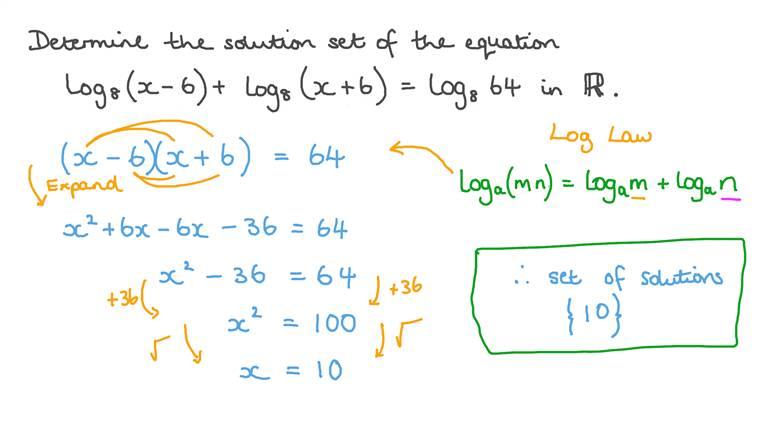 Déterminer l'ensemble solution d'équations logarithmiques sur l'ensemble des nombres réels