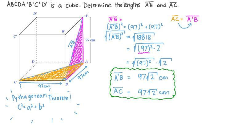 Applying Pythagoras's Theorem to Solve More Complex Problems