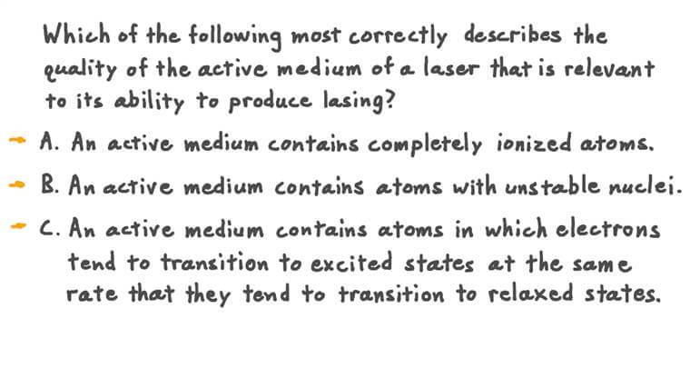 Describing the Active Medium of a Laser