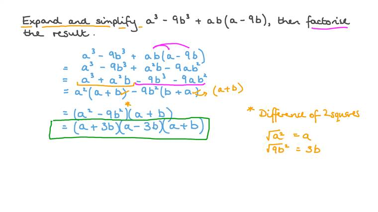 Expanding and Simplifying Algebraic Expressions Involving Factorization of the Difference of Two Squares