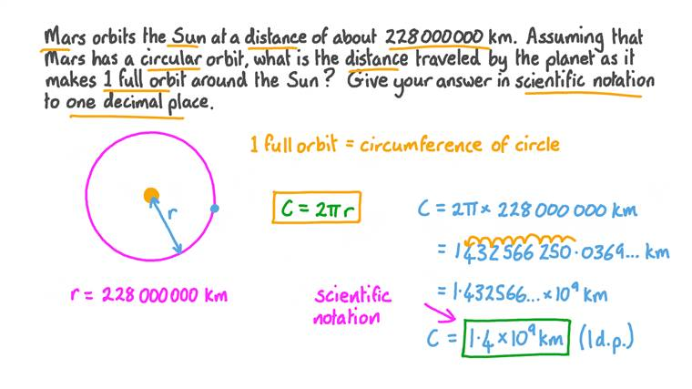 Finding the Distance Traveled along a Circular Orbit