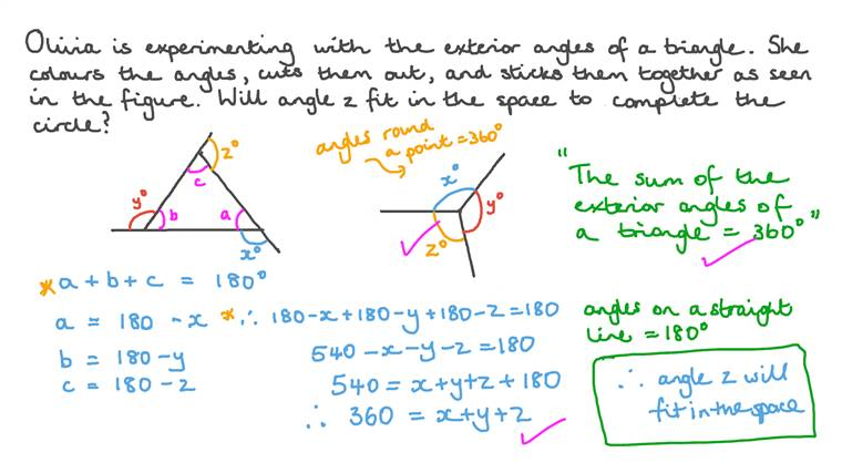 Discovering Properties of Exterior Angles