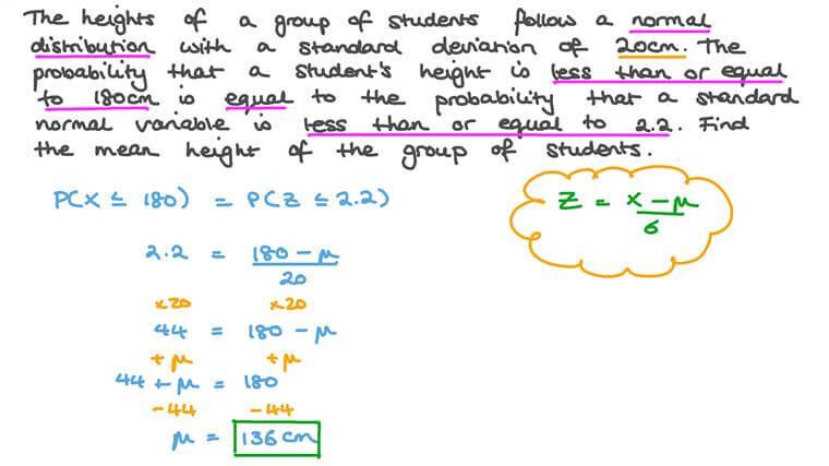 Calculer la moyenne en utilisant une loi normale