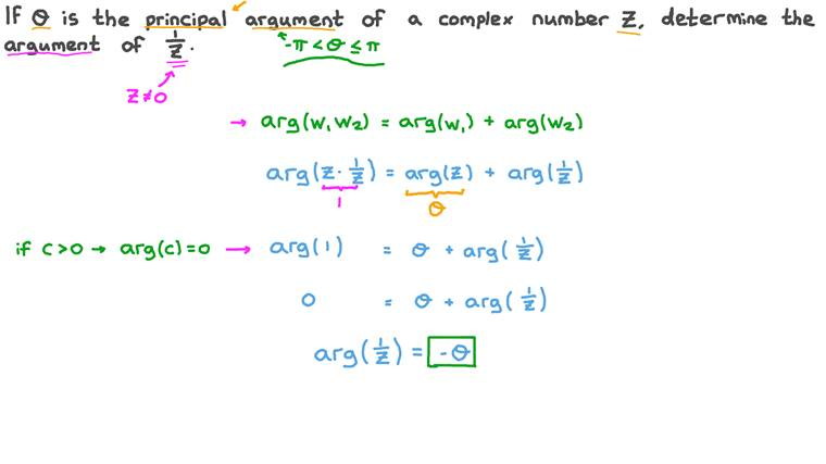 Finding the Argument of a Complex Number given the Argument of Its Reciprocal