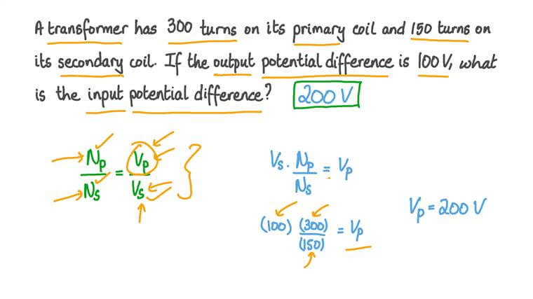 Finding the Input Potential Difference of a Transformer