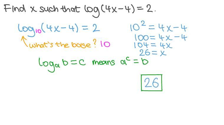 Résolution d'équations logarithmiques